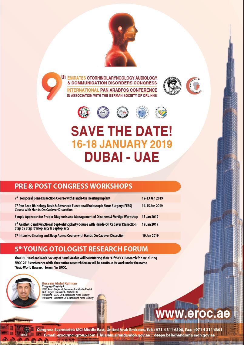 9th Emirates Otorhinolaryngology Audiology And Communication